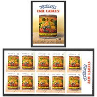Australia 2018 Vintage Jam Labels Melray Booklet/10 Stamps MUH Self-adhesive