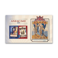 Australia 2019 ANZAC Day Mini Sheet of 2 Stamps MUH