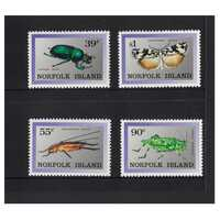 Norfolk Island 1989 Endemic Insects Set of 4 Stamps MUH SG456/59