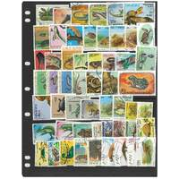 Reptiles - 100 Different Used Stamps In Bag