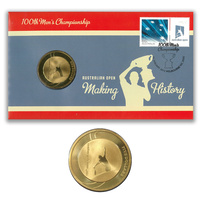 PNC - Australia Open 2012 Tennis 100th Men's Championship Stamp & $5 Coin Cover