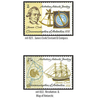 AAT STAMPS 1972 200TH ANNIVERSARY CIRCUMNAVIGATION OF THE ANTARCTIC BY CAPTAIN JAMES COOK