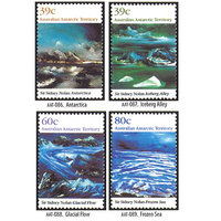 AAT STAMPS 1989 LANDSCAPES - PAINTINGS BY SYDNEY NOLAN SET OF 4