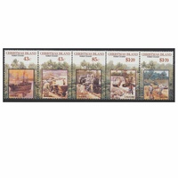 Christmas Island Stamps 1991 Centenary of First Phosphate Mining Lease Set of 5