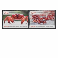 Christmas Island Stamps 2014 Red Crabs set of 2