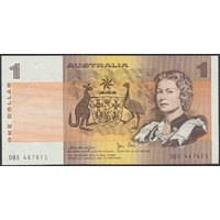 Australian One Dollar $1 Paper Note Knight/Stone 1979 R77 Uncirculated