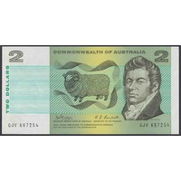 Australian Two Dollar $2 Paper Note Phillips/Randall R83 1968 gEF