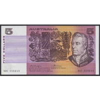 Australian Five Dollars $5 Paper Knight/Wheeler R206a 1976 Gothic Centre aUnc