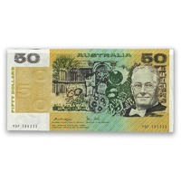 Australian Fifty Dollars $50 Paper Note Knight/Stone R507 1979 EF