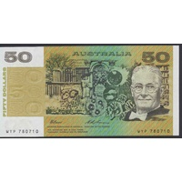 Australian Fifty Dollars $50 Paper Note Fraser/Evans R515 1993 UNC