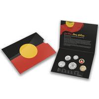 Australia 2021 6-Coin UNC Year Set Aboriginal Flag W/ A Unique $2 Coloured Coin