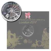 UK 2012 London Paralympic Games BU £5 Five Pound Coin