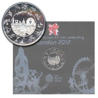UK 2012 London Olympic Games BU £5 Five Pound Crown Coin