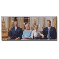 UK Royal Mail HM The Queen's 90th Birthday Miniature Sheet