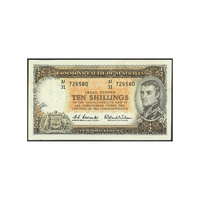 Commonwealth of Australia 1961 Ten Shillings Paper Banknote Coombs/Wilson Signature R17 aVF
