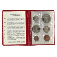 Australia 1979 Year Set of 6 UNC Coins in Red Wallet RAM