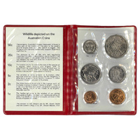 Australia 1981 Year Set of 6 UNC Coins in Red Wallet RAM