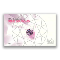 Australia 2017 Rare Beauties Pink Diamond Mini Sheet Melbourne Stamp Show Day 1 Overprinted