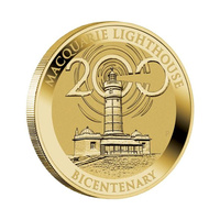 Australia 2018 Macquarie Lighthouse 200 Years $1 Dollar UNC Coin Carded