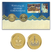 Australia 2013 Celebrating The Queens' Coronations Stamps & 2x$1 Coins Cover - PNC