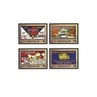 2016 (941) Nostalgic Fruit Labels Set of 4 MUH