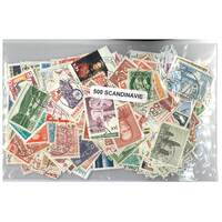 Scandinavia - 500 Different Used Stamps Mixed in Bag