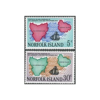 1969 (SG100/1) Norfolk Island Van Diemen's Land Set of 2 MUH