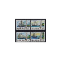 1985 (SG 360/3) Norfolk Isl. Whaling Ships Part 2 Set of 4 MUH