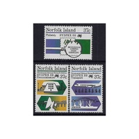 1988 (SG 444/6) Norfolk Isl. Sydpex '88 Stamp Expo Set of 3 MUH