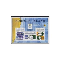 1988 (SG ms447) Norfolk Isl. Sydpex '88 Stamp Expo Mini Sheet MUH