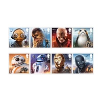 2017 STAR WARS™ Stamp Set of 8 By Royal Mail