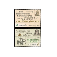 Christmas Island Early Voyages Set of 2 MUH 2017