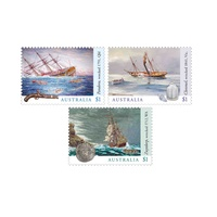 Australia 2017 Shipwrecks Set of 3 Self-adhesive Ex Booklet MUH (1009)