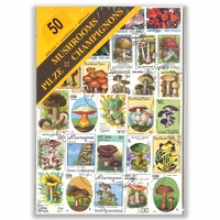 50 Different Thematic Stamps In Window Display Packet All Used Available In Various Topics