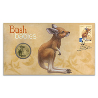 AUSTRALIAN BUSH BABIES - KANGAROO - 2011 PNC STAMP AND $1 COIN COVER