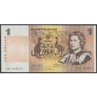 Australian One Dollar $1 Paper Note Knight/Wheeler 1976 R76a UNC